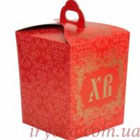 Коробка червона для паски 5 шт