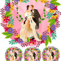 Весільні вафельні картинки